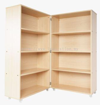 QWA007C Mobile Foldable Bookshelf with Castors