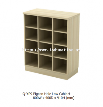 Q-YP9 Pigeon Hole Low Cabinet