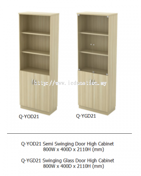 Q-YOD21 Semi Swinging Door High Cabinet