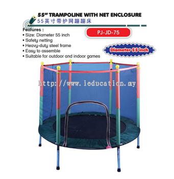 "PJ-JD-75  55"" Trampoline With Net Enclosure"