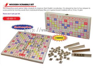 LG-ED-11 Wooden Scrabble Set ( 4 Kotak )
