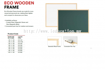 ECO11M Eco Wooden Frame White Board