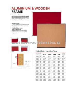 CB11 CORK Notice Board - Aluminium Frame