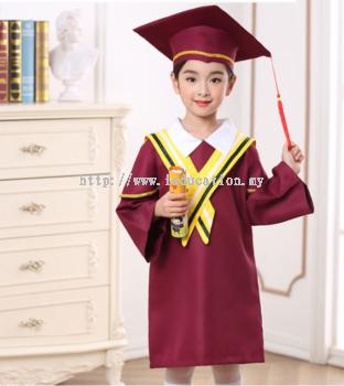 YY Graduation Gown Set M