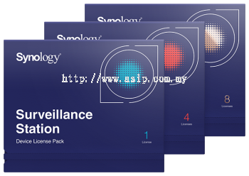 Synology Surveillance Device License Pack - SYN-IPCAM-LIC-1/SYN-IPCAM-LIC-4/SYN-IPCAM-LIC-8