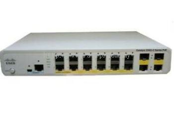WS-C2960C-12PC-L. Cisco Catalyst 2960C Switch 12 FE PoE, 2 x Dual Uplink, Lan Base. #ASIP Connect