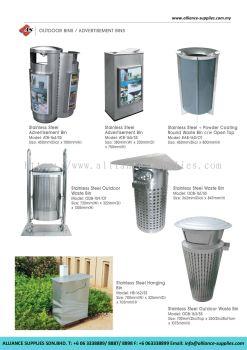 Stainless Steel Outdoor Bins/ Advertisement Bins
