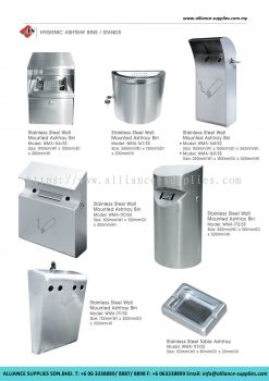 Stainless Steel Hygienic Ashtray Bins/ Stands