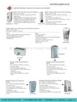 Sanitizer Dispenser/ Stainless Steel Liquid Soap Dispenser