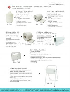 20100% Virgin Pulp Hand Roll Towel/ Industrial Roll/ Clinical Roll/ Toilet Seat Cover And Dispenser