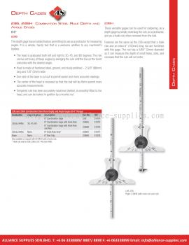 STARRETT Combination Steel Rule Depth and Angle Gages