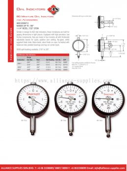 STARRETT Miniature Dial Indicators