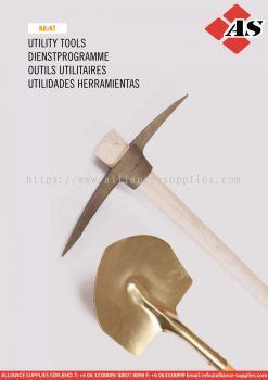 14.11 AMPCO Non-Sparking Shovels, Spades, Pans, Scoops, Picks, Hoes, Forks, Rake, Spike