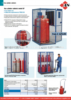 17.05.1 Gas Cylinder Cabinets and Stores