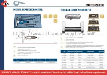DASQUA Digital Depth Micrometer / Tubular Inside Micrometer