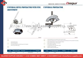 DASQUA Universal Bevel Protractor with Fine Adjustment / Universal Protractor