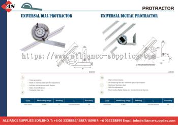 DASQUA Universal Dial Protractor / Universal Digital Protractor