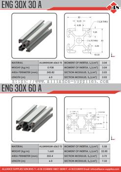 Aluminium Profile 30X30A / 30X60A