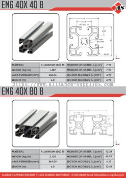 Aluminium Profile 40X40B / 40X80B