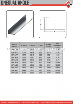 Aluminium Profile Unequal Angle