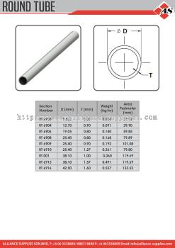 Aluminium Profile Round Tube