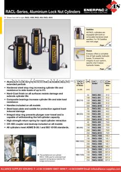 24.01.6 RACL-Series, Single-Acting, Aluminium Lock Nut Cylinders