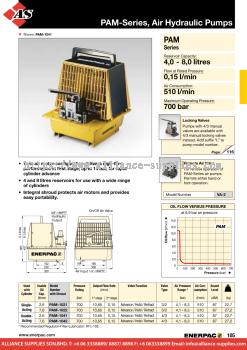 24.02.15 PAM-Series, Air Hydraulic Pumps