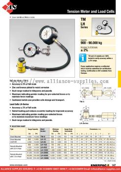 24.05.6 TM-Series, Tension Meter, LH-Series, Load Cells