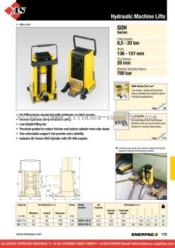 24.07.6 SOH-Series, Hydraulic Machine Lifts