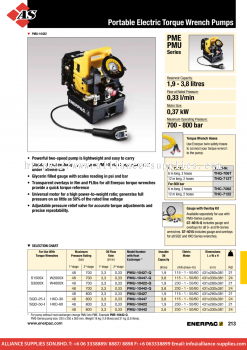 24.08.16 PME, PMU-Series, Portable Electric Torque Wrench Pumps