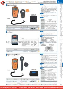 10.16.3 Lux Meters, UV Light Meter & Noise Meter