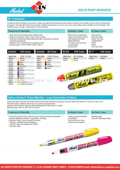 27.05.1 MARKAL SOLID PAINT MARKERS B Painstik / Valve Action Point Marker