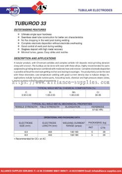27.09.9 POWER WELD TUBULAR ELECTRODES - TUBUROD 33