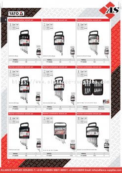 YATO Ratchet Combination Wrench Set / Non-Slip / Rapid Ratchet Combination Wrench