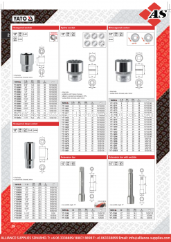 YATO Hexagonal / Hexagonal Deep / Spline / Bihexagonal Socket / Extension Bar /w Wobble