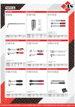 YATO L-Type Handle / Spark Plug Socket / Telescopic Ratchet Handle / Quick Release Ratchet Handle