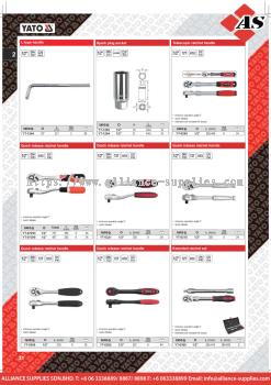 YATO L-Type Handle / Spark Plug Socket / Telescopic Ratchet Handle / Quick Release Ratchet Handle