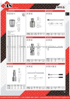YATO Hexagonal Socket / Extension Bar / Adapter / Flexible Handle / Universal Joint / L-Type Handle
