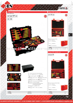 YATO 49 Pcs Insulated Tool Set / 16 Pcs VDE Sockets Set / 20 Pcs VDE Sockets Set