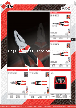 YATO Bent Nose Pliers / Long Nose Pliers / Combination Pliers / Diagonal Side Cutting Pliers