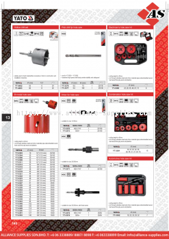 YATO Hollow Drill Set / Pilot Drill for Hole Saw / Electrician's Hole Saw Kit / Bi Metal Hole Saw