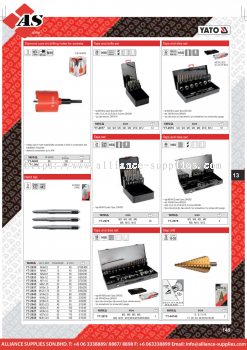 YATO Diamond Core Bit Drilling Holes For Sockets / Hand Tap / Taps & Drills Set / Taps Set