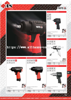 YATO Twin Hammer Impact Wrench / Impact Wrench / Twin Hammer Impact Wrench / Pneumatic Wrench