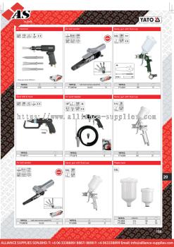 YATO Air Hammer / Air Belt Sander / Spot Drill & Hook / Air Sand Blaster / Spray Gun with Fluid Cup