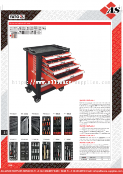 YATO Service Tool Cabinet With Tools YT-55300