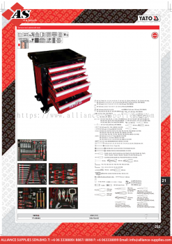 YATO Service Tool Cabinet With Tools YT-55303