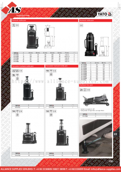 YATO Hydraulic Bottle Jack / Two Piston Hydraulic Bottle Jack