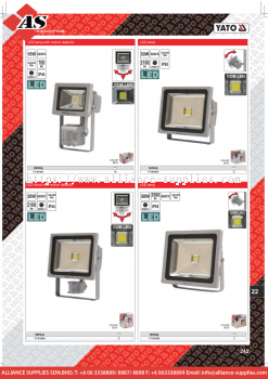 YATO LED Lamp With Motion Detector / LED Lamp