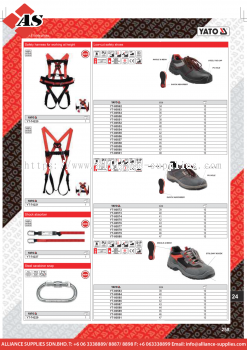 YATO Safety Harness For Working At Height / Steel Carabiner Snap /  Shock Absorber / Safety Shoes