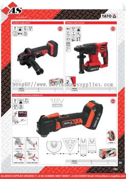 YATO Cordless Angle Grinder / Cordless Multi-Purpose Oscillating Tool / Cordless Rotary Hammer